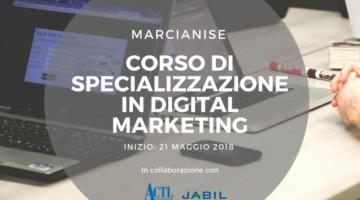 A Marcianise un corso di Specializzazione in Digital Marketing insieme ad ACTL e Jabil Italia