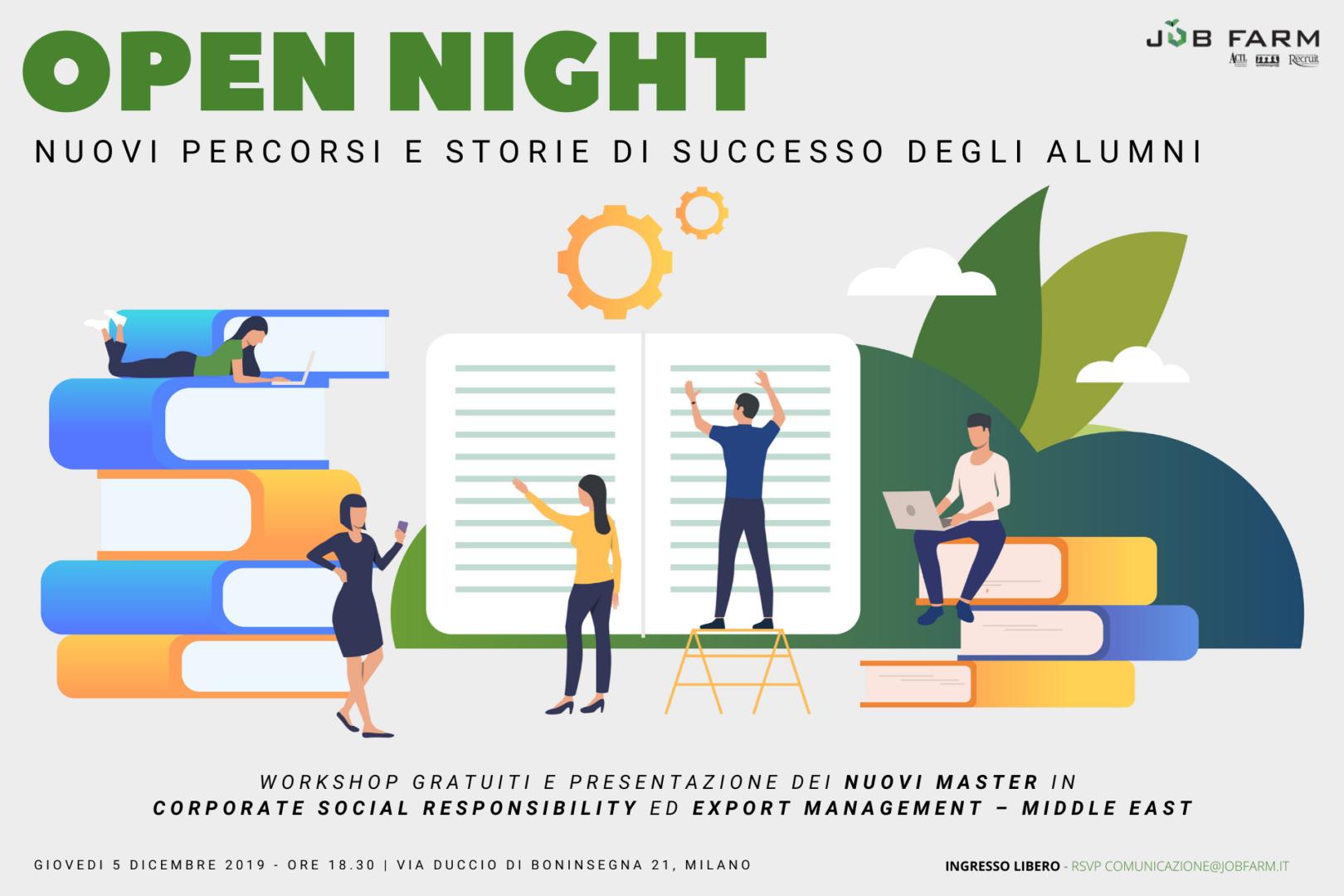 Open night: nuovi percorsi e storie di successo degli alumni